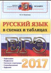 ЕГЭ 2017, Русский язык в схемах и таблицах, Политова И.Н.