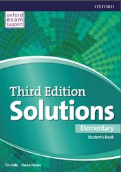 Solutions Elementary, Student's Book, Tim Falla, Paul A Davies, 2018
