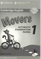 Cambridge English, movers, authentic examination papers 1, answer booklet, 2017