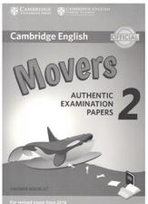 Cambridge English, movers, authentic examination papers 2, answer booklet, 2017