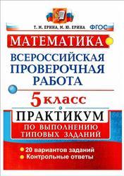 ВПР, Математика, 5 класс, Практикум по выполнению типовых заданий, Ерина Т.М., Ерина М.Ю., 2017