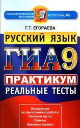 ГИА 2013, Русский язык, 9 класс, Практикум по выполнению типовых тестовых заданий, Егораева Г.Т.