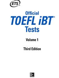 Official TOEFL iBT Tests, Volume 1, Third  Edition, 2018