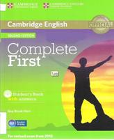Complete first, student's Book with answers, Brook-Hart G., 2014