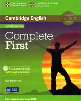 Complete First, student's Book without answers, second edition, Brook-Hart G., 2014