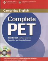 Complete PET, workbook, without answers, May P., Thomas A., 2010