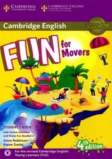 Cambridge English, fun for movers, student's book, fourth edition, Robinson A., Saxby K., 2017