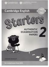 Cambridge English, starters, authentic examination papers 2, answer booklet, 2017