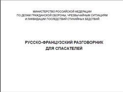 Русско-французский разговорник для спасателей, Субботина И.И.