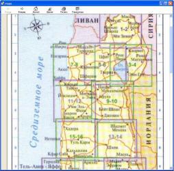 Интерактивная карта Израиля.