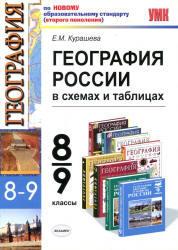 География России в схемах и таблицах, 8-9 класс, Курашева Е.М., 2011