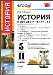 История в схемах и таблицах, 5-11 класс, Лебедева Р.Н., 2016