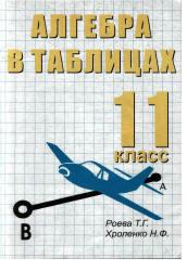 Алгебра в таблицах. 11 класс. Роева Т.Г., Хроленко Н.Ф. 2002