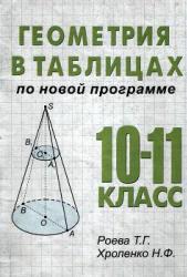 Геометрия в таблицах. 10-11 класс. Роева Т.Г., Хроленко Н.Ф. 2002