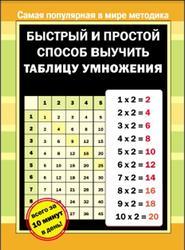 Быстрый и простой способ выучить таблицу умножения, Плигина Я.Н., 2012