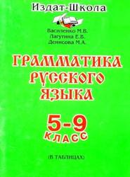 Грамматика русского языка в таблицах, 5-9 класс, Василенко М.В., Лагутина Е.В., Денисова М.А., 1997