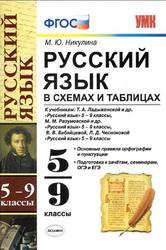 Русский язык в схемах и таблицах, 5-9 класс, Никулина М.Ю., 2015