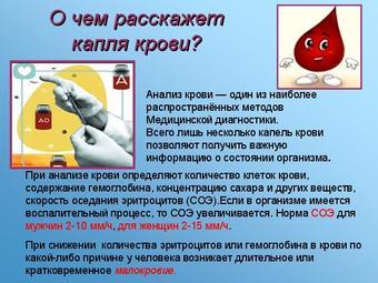 Презентация по биологии - Кровь и остальные компоненты внутренней среды организма