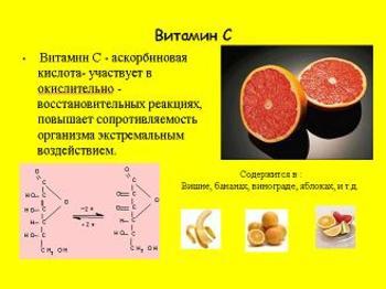 Презентация - Витамины и их роль в жизни людей