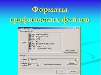 Презентация по информатике - Форматы графических файлов