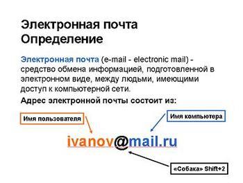 Презентация - Электронная почта