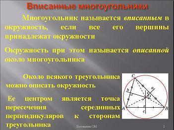 Презентация - Вписанные и описанные многоугольники