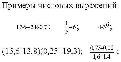 Числовые выражения