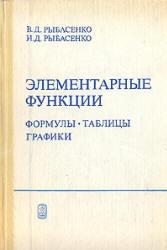 Элементарные функции, Формулы, Таблицы, Графики, Рыбасенко В.Д., Рыбасенко И.Д., 1987