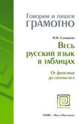 Весь русский язык в таблицах, От фонетики до синтаксиса, Соловьева Н.Н., 2009